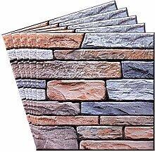 WOWOWO 3D Brick Wandpaneele Aufkleber DIY Dekor