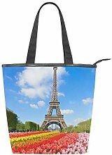 WowPrint Paris Eiffelturm Tulpe Blume Frauen