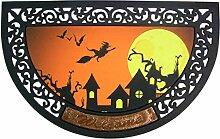 Wowser Halloween-Fußmatte, rund, Gummi, mit