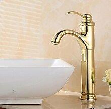 WP- All-Kupfer vergoldete warmes und kaltes Wasser Waschbecken Wasserhahn vergoldete Armaturen