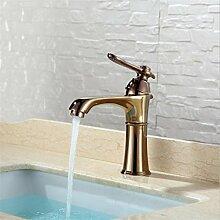 WP- All-Kupfer warmen und kalten Bassinhahn Doppelmisch Waschbecken Waschbecken Wasserhahn