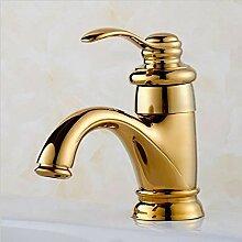 WP Alle Kupfer vergoldet Antik Waschbecken Wasserhahn