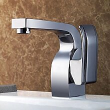 WP- Aluminium-Küchenspülen führende heißem und kaltem Wasser Polieren Hahn Galvanik Dreh Kupfer