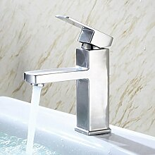 WP- Edelstahl-Becken Becken Wasserhahn Waschbecken Wasserhahn Bad Einlochmontage heißes und kaltes Mischventil