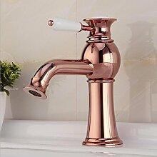 WP- Europäische - Stil antiker Wasserhahn gold - plated heißen und kalten Wasserhahn Zähler Basinbathroom Waschbecken Wasserhahn