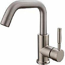 WP- Gebürstetes Zink Kupferkern Mischbatterie niedrigen Becken Waschbecken Wasserhahn