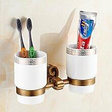 WP Komplette Kupferbecher Zahnbürstenhalter/Zwei
