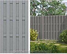 WPC Gartenzaun, 100% blickdicht 95x179cm - Sichtschutz, Sichtschutz Elemente, Sichtschutzwand, Windschutz