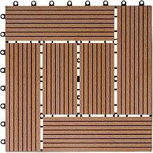WPC Holz Kunststoff Fliesen Terrassenfliesen