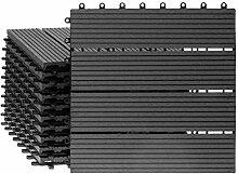 WPC Terrassenfliesen 11 Stück / 1 qm Bodenfliese