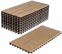 WPC Terrassenfliesen 11 Stück / 2 qm Bodenfliesen