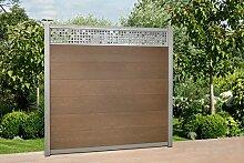WPC Zaun Royal Alu - Dekor Paneele, ca. B 570 x