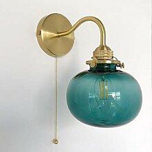WQ Messing Wandleuchte•Metall Wandlampe• Mit