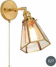 WQ Metall Wandlampe• Mit Zugschalter• Glas
