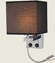 WQ Moderne LED Nachttisch Wandlampe Leselampe