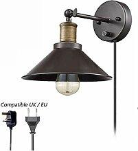 WQ Wandleuchte Dimmbar Retro Nachttisch Wandlampe