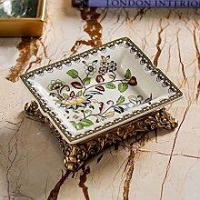 Wqi Ju Liang Produkte European Pastorale Dekoration Ornamente Can Lisa Serie Applikationen Keramik Aschenbecher-A