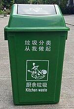 WQQTT Mülleimer Outdoor-Mülleimer, klassifiziert