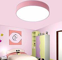 WQRTT® Deckenleuchte Einfache Runde Kinder Jungen und Mädchen Augenschutzlampe Raumleuchten Spielplatz Lampen , pink , 60cm