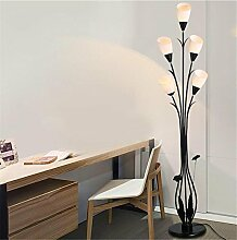 WQRTT® Stehlampe Moderne Metallic Silber 2 Way Mutter / Vater Eltern & Kind Uplighter und Spotlight Design Stehleuchte