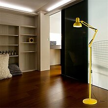 WQRTT® Stehleuchten Floor Lamps Indoor Light Led Faltbar Einstellbare Gestickte Schönheit Licht Einfache Moderne Schlafzimmer Wohnzimmer Tischleuchten Vertikale Dekoration Bodenleuchten , Yellow , 12W