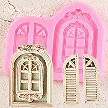 WQSD Fenster Kuchenrahmen Silikonform Tür Fudge