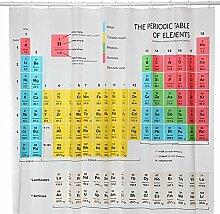 WQWQ Periodensystem der Elemente Duschvorhang