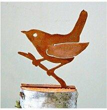 Wren on Branch Bird Silhouette