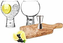 Wrenbury Presents Durobor Alternato Gin-Gläser,