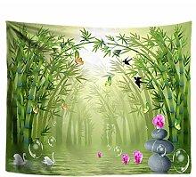 wrhua Schmetterling Bambus Blume Tapisserie