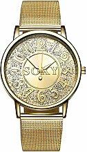 Wristwatch Männer Goldene Stahl Band Business