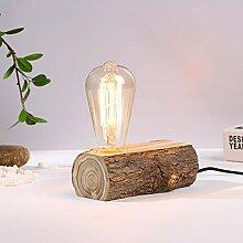 WRMING Tischlampe Holz Antik E27 Vintage
