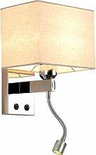 WRMING Wandleuchte Stoff Wandlampe mit LED