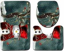 WRPPP Badezimmer-Toilette des Weihnachten 3D