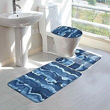 Wrution Badezimmerteppich mit nahtlosem