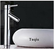 WRYZDQ Chrom Badezimmer Waschbecken Wasserhahn