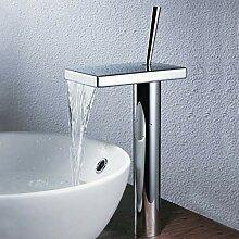 WRYZDQ Chrom Messing Badezimmer Wasserfall