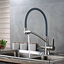 WRYZDQ Nickel Water Mixer KüchenarmaturMit