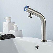 WRYZDQ Waschbecken Wasserhahn Gebürstet Einzigen