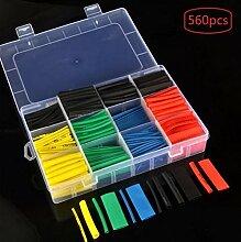 WSCHENG Eine Box / 560pcs Farbe Schrumpfschlauch