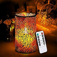 wscmd LED Mosaik Flammenlose Kerze,