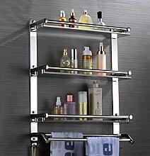WSGZH Badezimmer-Regal mit Handtuchhalter an der