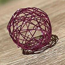 WSH 12 er Set Drahtbälle 3cm Dekokugel Dekoball
