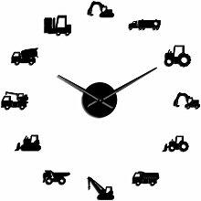 WSHH Uhr Modern DIY Giant Wanduhr Schweres Gerät