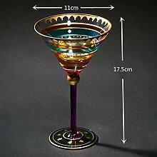 WSHP-goblet Kelch Becher Weinglas 1 Para Bemalte