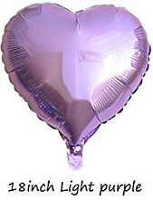 WSJQQ 1 Stück 18 Zoll Farbe Herz Folienballon