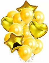 WSJQQ 14 Stücke Multi Herz Latex Folienballon