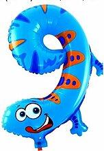 WSJQQ 16 Zoll Tiere Anzahl Folienballons Digit
