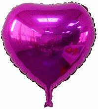 WSJQQ 5 Stücke Rotes Herz Folienballons