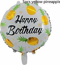 WSJQQ 5 Teile/Los Gold Ananas Form Folienballon